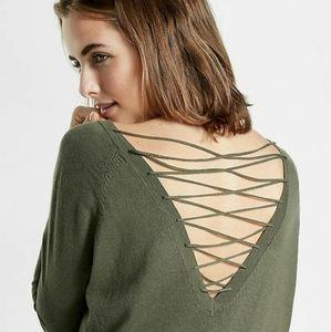 B2G1F: Express Lace Up Circle Hem Tunic Sweater